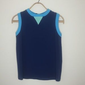 [Faconnable] Top with back yellow and green zipper
